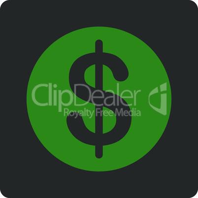 Bicolor Green-Gray--dollar coin.eps