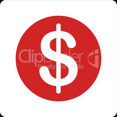 bg-Black Bicolor Red-White--dollar coin.eps