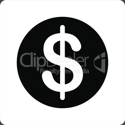 bg-Gray Bicolor Black-White--dollar coin.eps