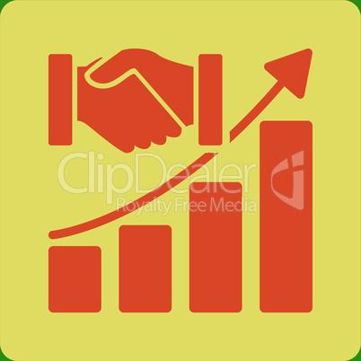 bg-Green Bicolor Orange-Yellow--Acquisition growth.eps