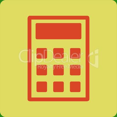 bg-Green Bicolor Orange-Yellow--calculator.eps