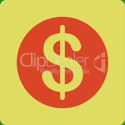 bg-Green Bicolor Orange-Yellow--dollar coin.eps