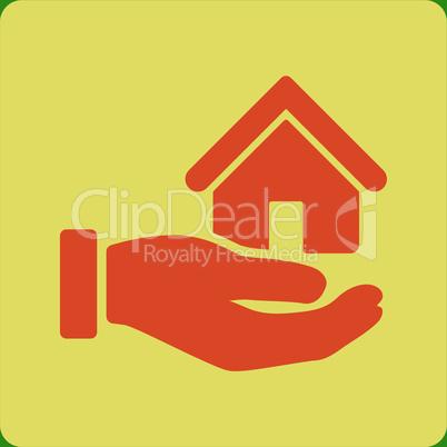 bg-Green Bicolor Orange-Yellow--real estate.eps