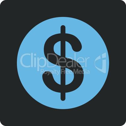 Bicolor Blue-Gray--dollar coin.eps