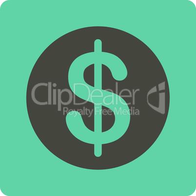 Bicolor Grey-Cyan--dollar coin.eps
