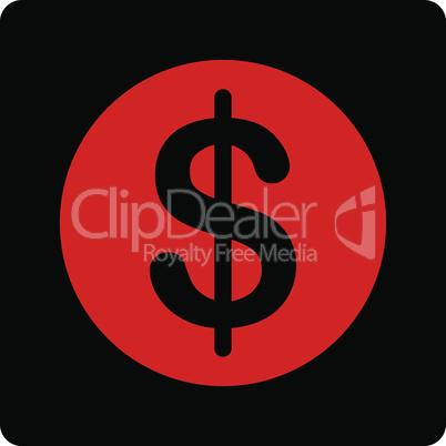 Bicolor Blood-Black--dollar coin.eps