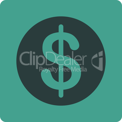 Bicolor Soft Blue--dollar coin.eps