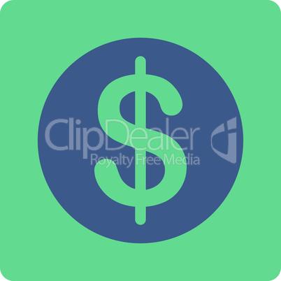 BiColor Cobalt-Cyan--dollar coin.eps