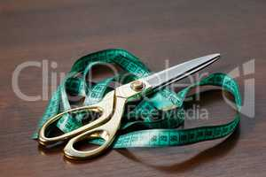 Professional tailor's tools for cutting and sewing