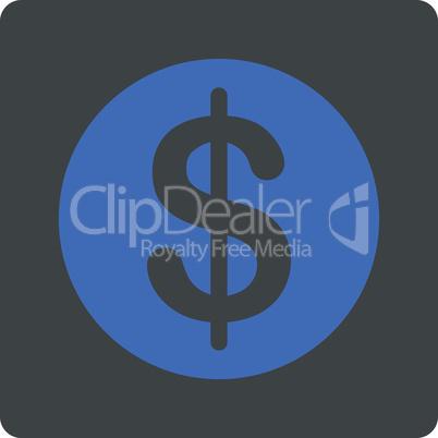 BiColor Cobalt-Gray--dollar coin.eps