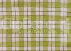 Retro look Green checkered tablecloth background