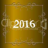 Elegant New Years card with hand lettering, Happy New Year 2016
