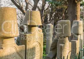 Ottoman Gravestones At Eyup, Istanbul