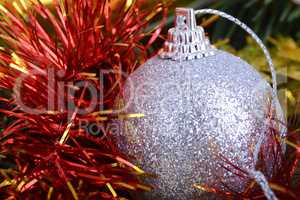 Merry Christmas and Happy New Year. New year decoration. New year balls