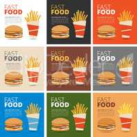 Fast food restaurant menu