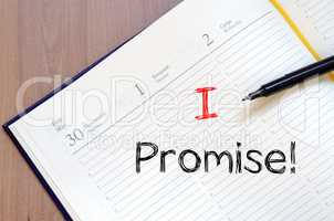 I promise write on notebook