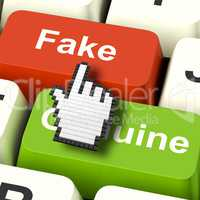 Fake Computer Means Artificial or Faked Product