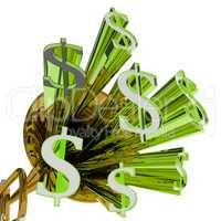 Dollars Sign Means Money Currency And Finances