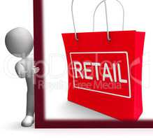 Retail Shopping Sign Shows Buying Selling Merchandise Sales