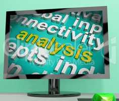 Analysis Word Cloud Screen Shows Probe Examination