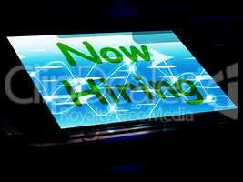 Now Hiring On Screen Shows Recruitment Online Hire Jobs