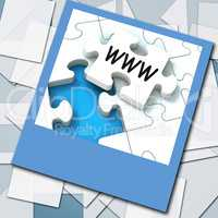 WWW Photo Means Internet Website Or Network