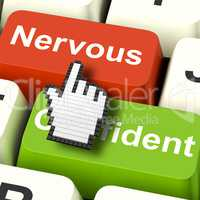 Nervous Anxious Keys Shows Nerves Or Afraid Online