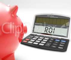 ROI Calculator Shows Investment Return Or Profitability