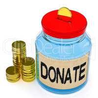Donate Jar Means Fundraiser Charity Or Giving