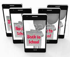 Back To School Phone Shows Beginning Of Term