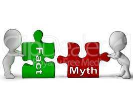 Fact Myth Puzzle Shows Fact Or Mythology
