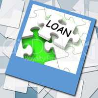 Loan Photo Shows Online Financing And Lending