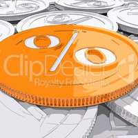 Percentage Coin Shows Interest  Earn And Owed