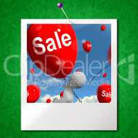 Sale Balloons Photo Shows Offers in Selling and Discounts