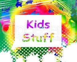 Kids Stuff On Screen Means Online Activities For Children