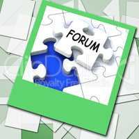 Forum Photo Means Online Networks And Chat