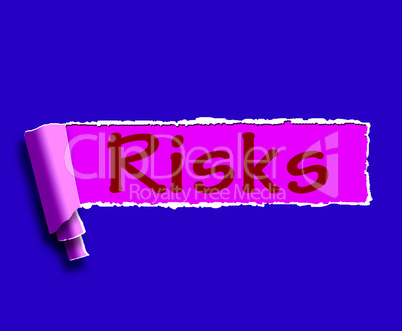 Risks Word Means Investing Online Profit And Loss