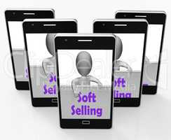 Soft Selling Phone Shows Friendly Sales Technique