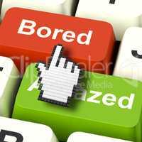 Bored Boring Computer Shows Boredom Or Amaze Reaction