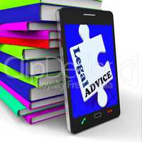 Legal Advice Smartphone Means Lawyer Assistance Internet