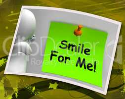 Smile For Me Photo Means Be Happy Cheerful