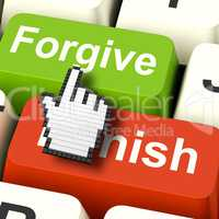 Punish Forgive Computer Shows Punishment or Forgiveness
