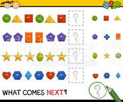 preschool pattern game with shapes