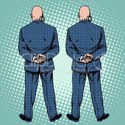 bodyguards cordon protection secret service agents back