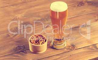 Oktoberfest Beer Mug and traditional German pretzels