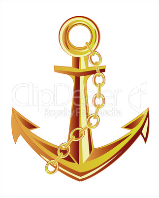 gold anchor.eps