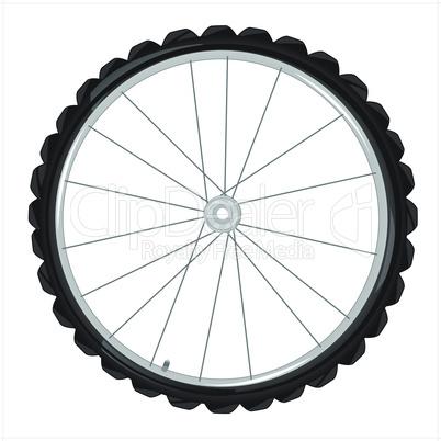 wheel of the bicycle.eps