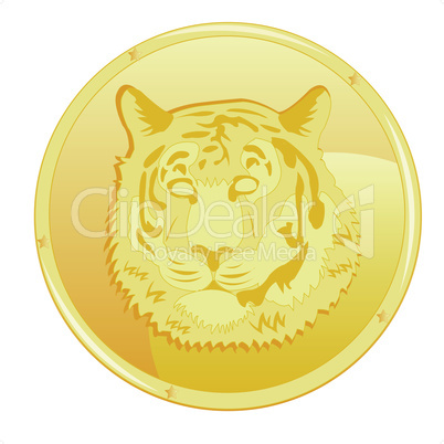 coin with tiger.eps