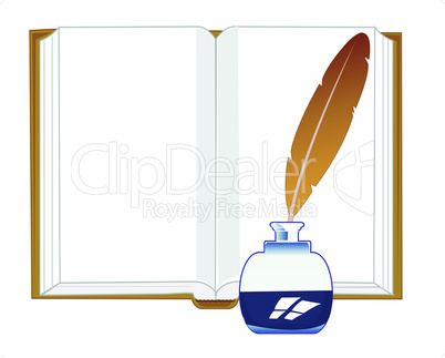 note pad and feather.eps