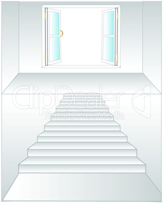 stairway to window.eps